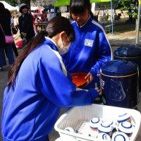 小学校運動会で中学生が活躍