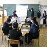 防災教育モデル事業マイタイムラインづくりを全校で行いました
