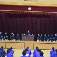 生徒会役員立会演説会開催